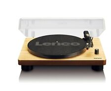 Lenco LS-50 Turntable with Built-In Speakers + USB Bluetooth - Wood Finish