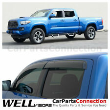 WellVisors Window Deflector For Toyota Tacoma 16-19 Double Cab Clip-on Series