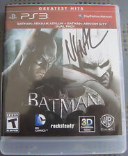 Batman Arkham Dual Pack Asylum & City Playstation 3  signed by Nolan North PS3