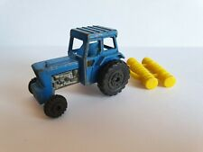 MATCHBOX SUPERFAST Nr 46 Ford Tractor with Plow / Blue colour / 1978