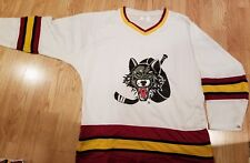 NEW Chicago Wolves Hockey Jersey white screened blank Size Adult medium AHL