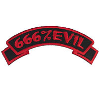 Kreepsville 666 Arch 666% Evil Patch Horror Embroidered On Iron Patch PAR666E