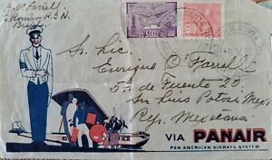 A) 1932, BRAZIL, FROM GRANDE NORTH BRIDGE TO MEXICO, AERIAL, AVIATION STAMP