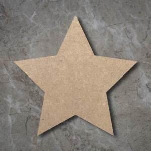 Large MDF Star Craft Wooden Shape Blank Wood 20 30 40cm Unpainted