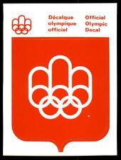 1976 Official Licensed Summer Olympic Decal Sticker Montreal RARE MINT