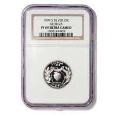 USA Georgia State Quarter 1999 S Silver Proof NGC PF 69 Ultra Cameo