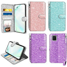 For Samsung Galaxy Note 10 Lite N770 Flip Bling Glitter Wallet STAND Case Cover