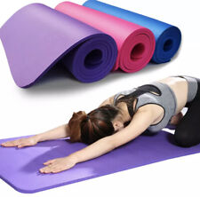 3mm-6mm Thick Non Slip Exercise Yoga Mats Gym Pilates Physio Foam Camping