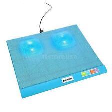 2 Fans Blue Laptop Cooling Pads