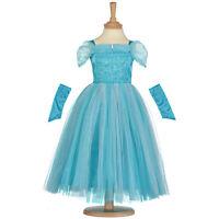 Türkis Blau Sparkle Prinzessin Kinder Kostüm Buch Woche Alter 3/5