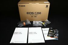 Canon Eos C200 4K Raw cinema camera w 2 Bp-A30 batts - Only 73 Hrs