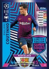 2018 19 UEFA Match Attax Philippe Coutinho Limited Edition Card Super Squad LE8