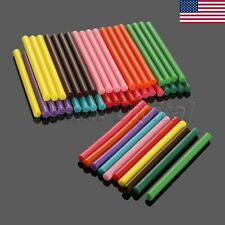 US STOCK 50Pcs 10 Colors Hot Melt Glue Gun Sticks Adhesive 7x100mm DIY Crafts