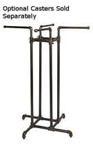 "New Retails 4-Way Clothing Display Rack 48""-72""H x 30""W x 30""D"