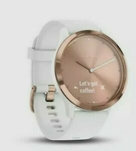 Garmin Vivomove HR Hybrid Smart Watch Activity Tracker White/Rose Gold****