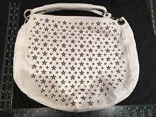 Jimmy Choo Winter White Silver Star Stud Soft Leather Handbag