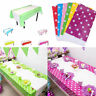 New 108*180CM Polka Dots Party Plastic Table Cover for Kids Birthday Party Decor