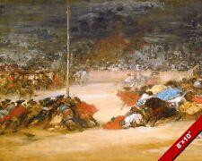 THE SPANISH BULLFIGHT BULL PAINTING ART BY VILLAMIL REAL CANVAS GICLEEPRINT