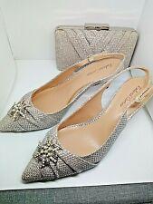 Roland Cartier Marca Nueva Luz Oro Brillo Zapatos y bolso a juego Size UK 6 EU