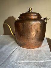 Antique Copper Kettle Tea Pot Cauldron Hand Hammered Forged/ Goose Neck Spout
