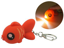 Red Goldfish Keychain with LED Light and Sound