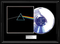 PINK FLOYD THE DARK SIDE OF THE MOON  WHITE GOLD SILVER PLATINUM TONE RECORD LP