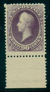 US #218 90¢ purple, margin single, og NH, VF+ PSE certificate