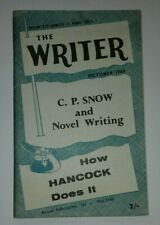 THE WRITER October 1960 magazine - C.P. Snow interview