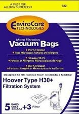 Hoover Telios Canisters Vac Micro Filtration Type H-30 Paper Bags 5 Pk Part 322