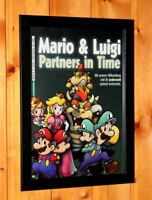 Mario & Luigi Partners in Time Very Rare Small Poster / Ad Page Framed NDS Wii U