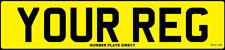 REAR Standard EURO UK Road Legal CAR VAN TRAILER Number Plate Reg MOT Compliant