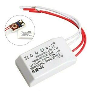 20-60W 220V À AC12V Lampe LED-Lumière Transformateur Électronique Adaptateur