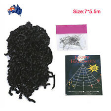 STRETCHABLE WHITE 2 Spiders & TRIANGLE TSPIDER BLACK WEB  Halloween Decoration