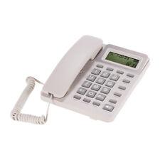 Desktop Corded Landline Phone LCD Fixed Telephone f/ Home Hotel Office Bank G2C0
