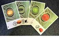 FDC Collection of 4 Vegetables Benham covers various PM 25th March 2003. HC2