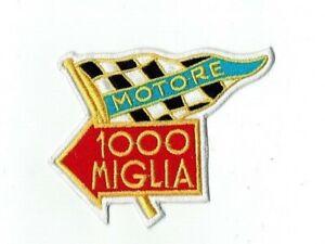 🔥 Motore 1000 Mille Miglia  Patch Bügel o. Aufnäher Rennsport Oldtimer Retro 🔥