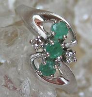 Love it 🎁 Smaragdringe aus 14kt Gold Ring mit Smaragde Smaragd Brillant Diamant