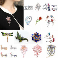Fashion Lady 1Pc Alloy Rhinestone Party Wedding Bridal Suit Brooch Pin Accessory