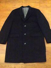 Nouvelle laine cachemire manteau noir par Pierre Cardin XL 48R