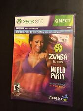 Xbox 360 Zumba World Party 2014 DVD Requires Kinect New Unopened Workout