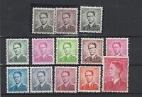 FRANCOBOLLI - 1958/72 BELGIO RE BALDOVINO MNH Z/9349