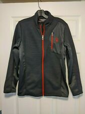Spyder Full Zip Sweater Jacket Black w/ Red Youth-Boys Sz XL (18-20) excellent