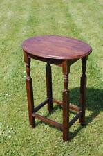 Vintage! Tall Oak Oval Occasional / End Table