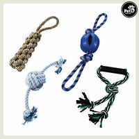 Pets&Partner® Hundespielzeug 4er Set Kauspielzeug Hundeseil Zerrspiel Kauseil