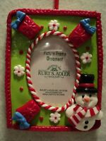 "KSA ""CLAYDOUGH PHOTO FRAME ~ SNOWMAN AND GIFT"" Ornament ~ NEW ~ Great Gift Idea!"