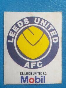 Mobil Football Club Badges Silk 1983 Leeds United