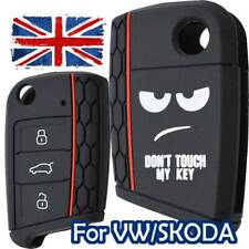 Car Key Fob Cover For VW Golf 7 MK7 SKODA SEAT Silicone Rubber Case Remote Shell