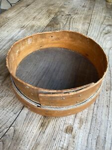 Vintage Antique Wooden Round Flour Sifter Sieve Rustic Kitchenalia