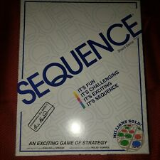 SEQUENCE- Original SEQUENCE Game with Folding Board White damaged box new