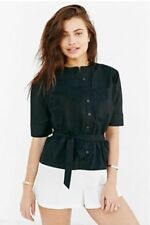 New Alice Ritter x UO Black white Structured Romper $80 button shorts Large 1143